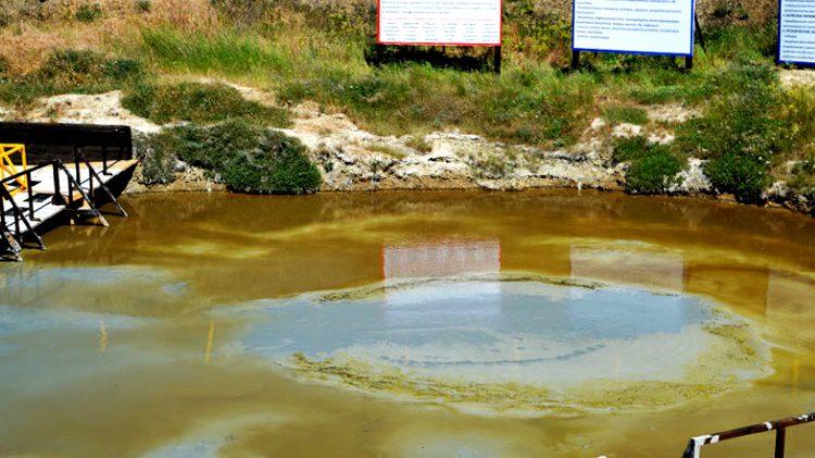 Вулкан Таздар и его лечебная грязь