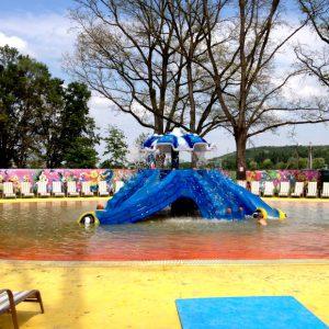 горячий источник Косино под открытым небом для детей