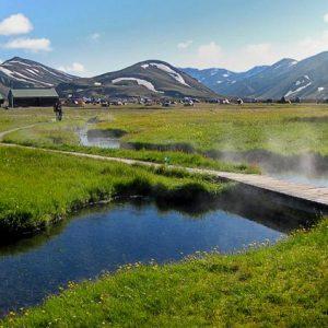 Ландманналаугар термальные источники в Исландии