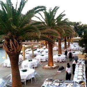 Каллифея, Большая Ротонда, Родос, Греция, пляж, кафе